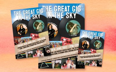Jeremy's Great Gig in the Sky tribute concert posters