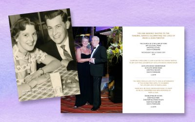A Lifetime of Love Dual Funeral Invite